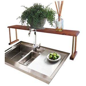 Over-the-Sink Shelf Rustic Pine Multi-purpose